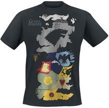 Game Of Thrones - Westeros Sigils Map - T-paita