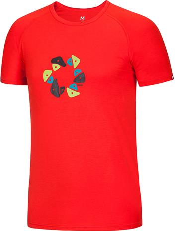 Ocun Bamboo Holds Lyhythihainen paita , punainen