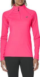 asics LS 1/2 Zip Jersey juoksupaita , vaaleanpunainen, Naisten takit, paidat ja muut yläosat