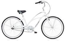 Electra Cruiser Lux 3i kaupunkipyörä , valkoinen