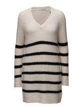 Scotch & Soda Home Alone Oversized V-Neck Hairy Striped Knit 14119761