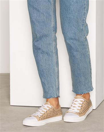 NLY Shoes Stud Sneaker Low Top Beige