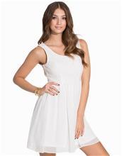Dry Lake Petite Open Back Dress Skater Dresses White