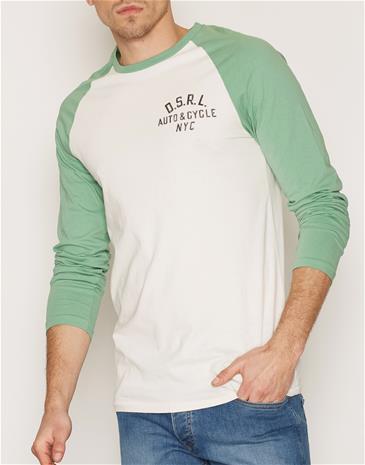 Denim & Supply Ralph Lauren Baseball Long Sleeve T-shirt Puserot Antique
