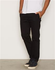Topman Black Standard Fit Chinos Housut Black