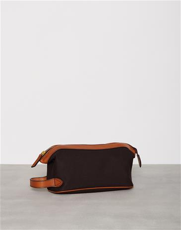 Baron Toilet Bag Canvas Laukut Brownie