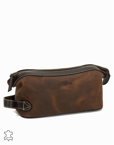 Baron Toilet Bag Suede Laukut Brown