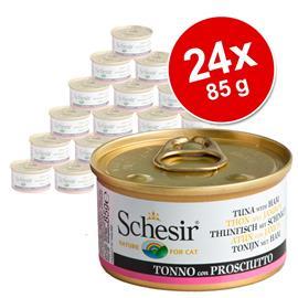 Schesir in Jelly -säästöpakkaus 24 x 85 g - tonnikala & kummeliturska