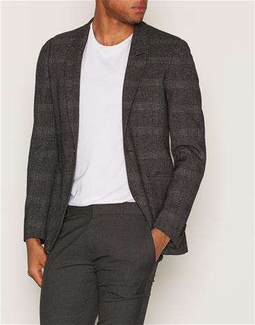 Topman Grey Check Ultra Skinny Fit Suit Jacket Bleiserit & puvut Grey