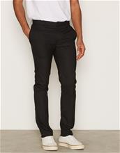 Topman Black Ultra Skinny Fit Smart Trousers Housut Black