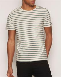 Selected Homme Shhkris Stripe Ss O-Neck Tee Noos T-paidat ja topit Tummanharmaa