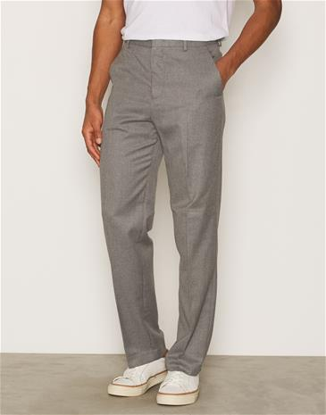 Topman Grey Flannel Wide Leg Smart Trousers Housut Grey