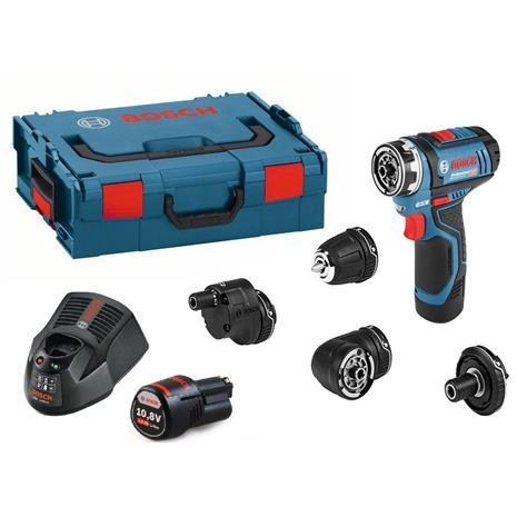 Pora/ruuvinväännin Bosch GSR 12V-15 FC Full Set; 12V; 2x2,0 Ah akku