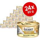 Gourmet Gold Soufflä© 24 x 85 g - lajitelma: kana & lohi