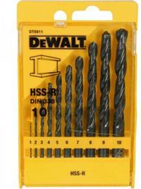 Metalliporanteräsarja DeWalt DT5911; 1-10 mm; 10 kpl.