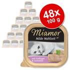 Miamor Mild Meal -säästöpakkaus 48 x 100 g - siipikarja & kinkku