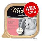 Miamor Sensibel -säästöpakkaus 48 x 100 g - lajitelma: kana & riisi + kalkkuna & pasta
