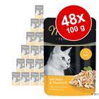 Miamor Fine Filets in Jelly -säästöpakkaus 48 x 100 g - lajitelma: tonnikala & mustekala + tonnikala & rapu