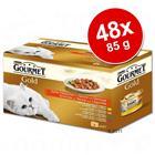 Säästöpakkaus: Gourmet Gold -lajitelma 48 x 85 g - lajitelma: Double Delicacies & In Gravy