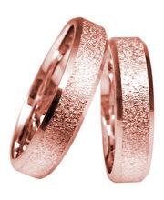 kuuluisa merkki saapuu alennus 3D Gold 632-4 ohut punakultainen sormus