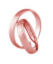 valtava valikoima klassikko huippumuoti 3D Gold 681-4 punakultainen sormus