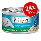 Gourmet Fisherman's Delights 24 x 85 g - lajitelma: lohi & punakampela