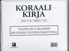 Koraalikirja 1-3 : virret 1-632 (Pekka Sipilä), kirja