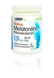 LEADER Sports Nutrition Vahva Pitkävaikutteinen Melatoniini 1,9 mg