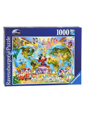 Ravensburger palapeli, Disney's world map, 1000 palaa