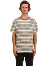 Rhythm Everyday Stripe T-paita dusted olive / kuvioitu Miehet