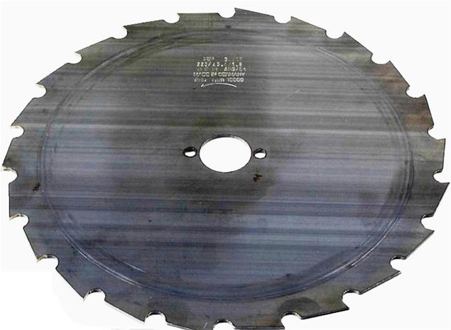 Raivaussahanterä (22x225x1,8; d=25,4 mm)