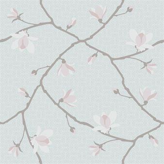 Boråstapeter Magnolia Jubileum tapetti vaaleansininen