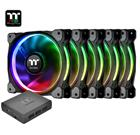 Thermaltake Riing Plus 12 LED RGB Radiator Fan TT Premium Edition (5 Fan Pack), kotelotuuletin 5 kpl + ohjain