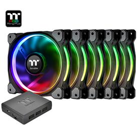 Thermaltake Riing Plus 12 LED RGB Radiator Fan TT Premium Edition (5 Fan Pack), kotelotuuletin 5 kpl + ohjain