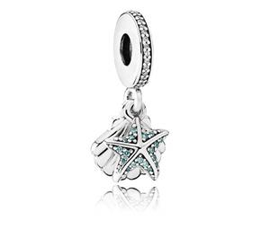 Pandora 792076CZF Starfish and sea shell