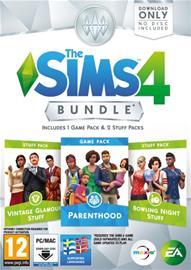 The Sims 4 - Bundle 9 (Klassista luksuskamaa + Keilailukamaa + Vanhemmuus), PC-peli