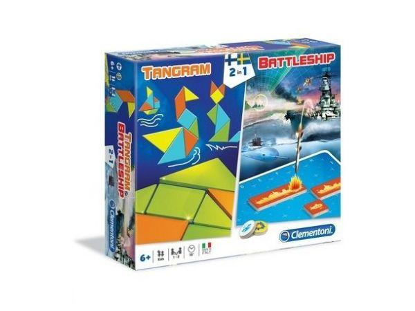 Clementoni Tangram and Battleship -pelisetti