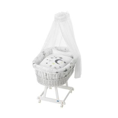 ALVI Vauvan korisänky Birthe sänkysetillä, valkoinen, Silver Star 786-9