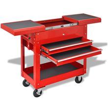 vidaXL 142200, verstaan työkalukärry 2:lla laatikolla teräs punainen