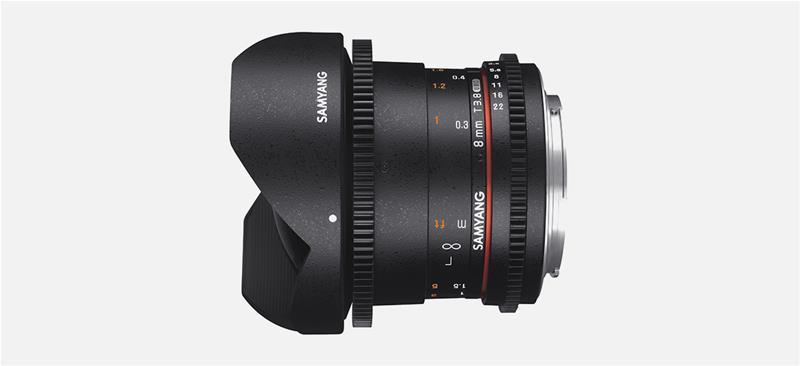 Samyang 8mm T3.8 VDSLR UMC Fish-eye CS II, objektiivi
