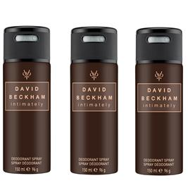 David Beckham - 3x Intimately Deodorant Spray 150 ml