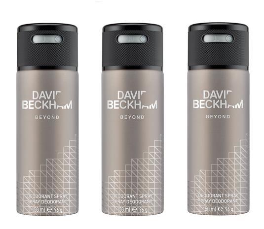 David Beckham - 3x Beyond Deodorant Spray 150 ml
