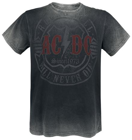 AC/DC Rock & Roll - Will Never Die T-paita tummanharmaa