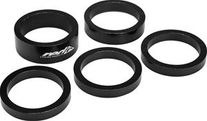 Red Cycling Products Aluminium Spacer Set 5-piece black