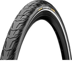 "Continental Ride City E-25 renkaat 28"""" Reflex , musta"