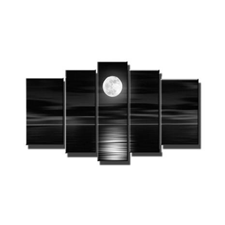 5 Taulua Moon - Valmis Taulusarja seinälle, WorkspaceTables