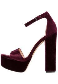 Steve Madden GONZOV Korkeakorkoiset sandaalit burgundy