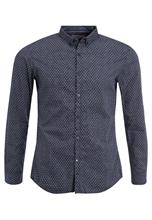 TOM TAILOR DENIM PATTERNED Vapaaajan kauluspaita slightly creamy