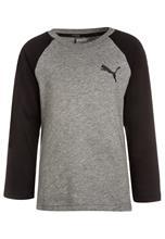 Puma STYLE BASEBALL Pitkähihainen paita medium gray heather
