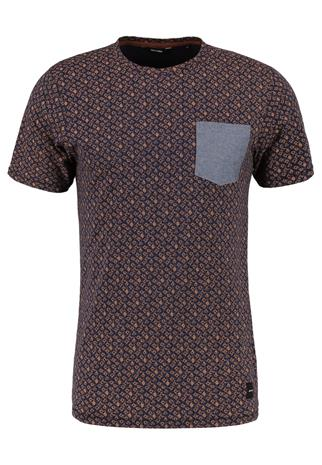 Only & Sons ONSARTHUR SLIM FIT Printtipaita dress blues